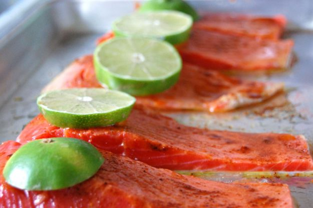 Filetti di salmone al lime
