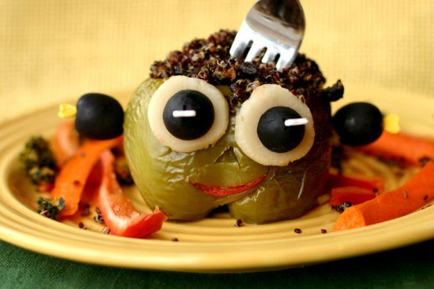 Peperoni ripieni mostrini Halloween