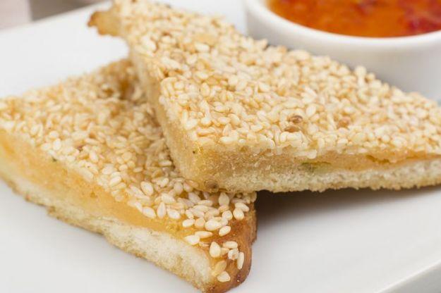 Toast di gamberi