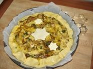 La decorazione della torta salata