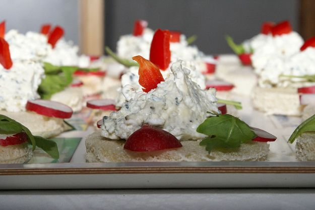 antipasti tartine formaggio unita italia