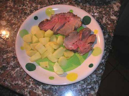 arrosto con patate lesse