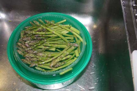asparagi lavati
