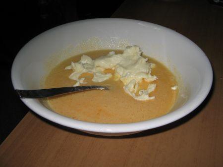 burro zucchero e uova