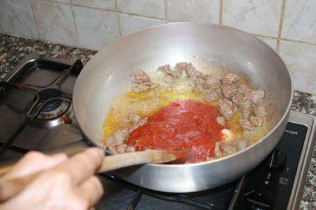 carne con i fagiolini