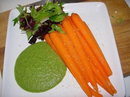 carote con salsa