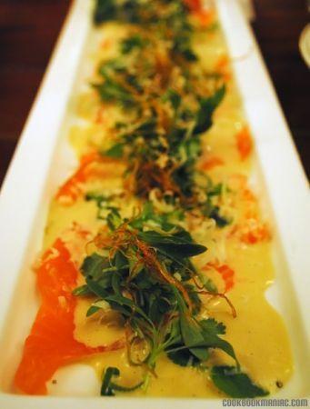 carpaccio di salmone con patate