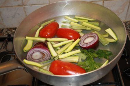 cus cous con pesce e verdure