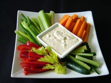 cruditè con salsa di gorgonzola