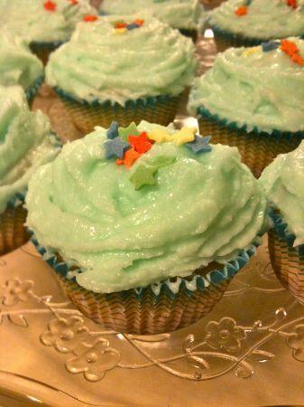 cupcakes con stelline di zucchero