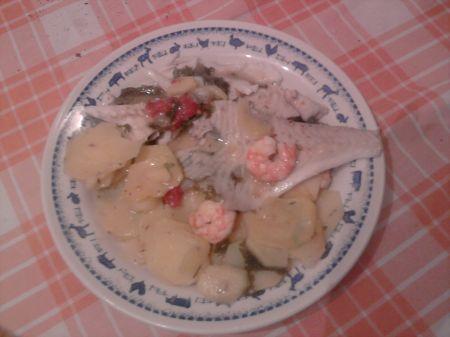 filetti di rombo con patate