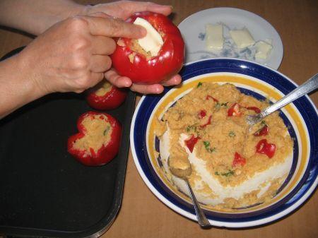 formaggio nei peperoni