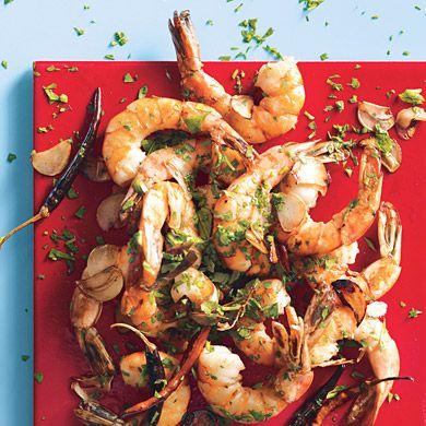 gamberi aglio olio e peperoncino