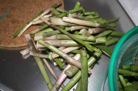 pulite gli asparagi