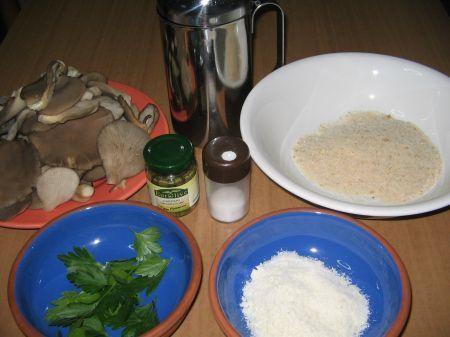 ingredienti per funghi