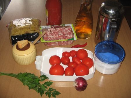 ingredienti per i paccheri