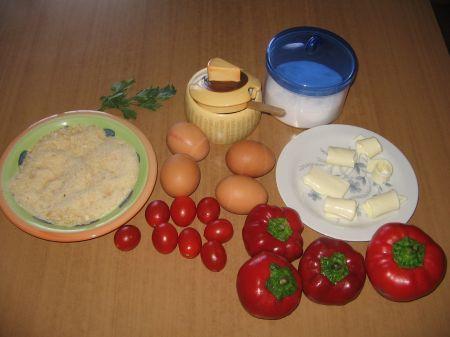 ingredienti per peperoni ripieni con pasta filante