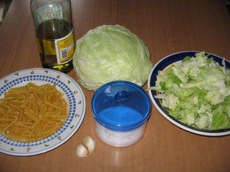 ingredienti pasta cavolo