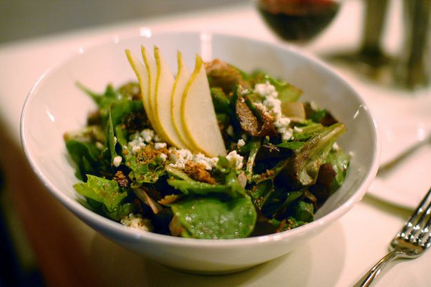 insalata con pere e bottarga