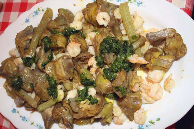 insalata gamberi carciofi san valentino