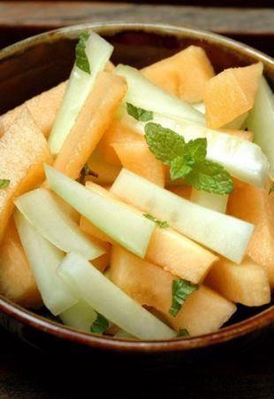 insalata melone e cetriolo