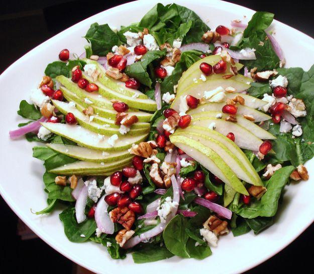 insalata per natale con melograno