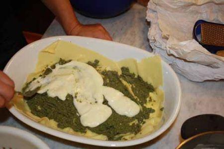 lasagne al forno al verde
