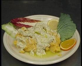 merluzzo alla istriana con capperi, alici, cipolla, prezzemolo, succo di limone