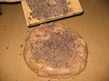 cioccolato a scaglie nell' impasto
