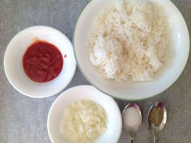 orsetto di riso con copertina di frittata 2