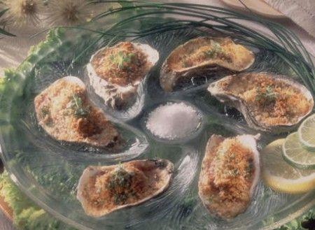 ostriche gratinate senza besciamella