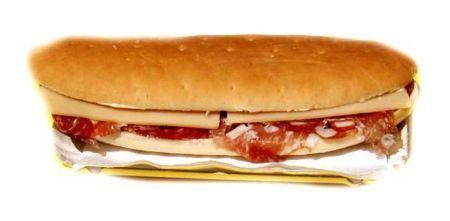 panino con salame e Gorgonzola