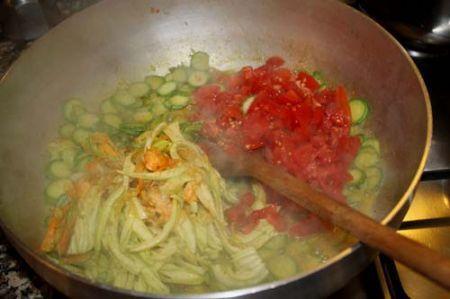 pasta con triglie e zucchine
