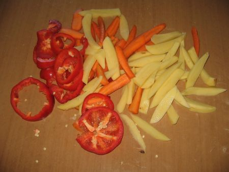 patate carote a listarelle