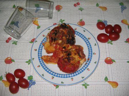 peperoni ripieni con formaggio a pasta filata
