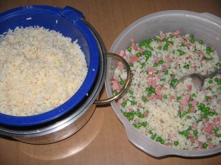 piselli nel riso