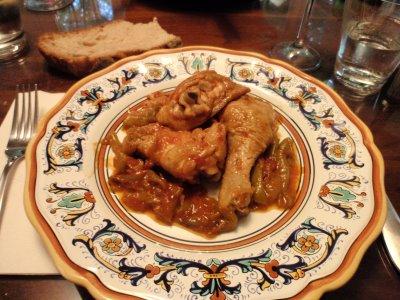 pollo rosso alla spagnola con peperoni
