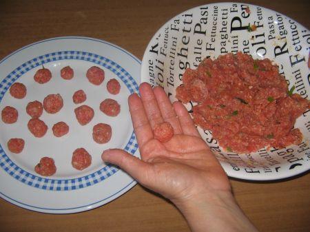 polpette di carne per pasta al forno