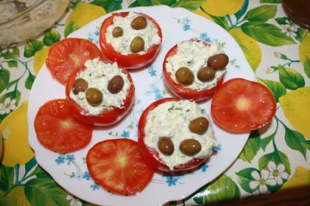 pomodori farciti con caprino