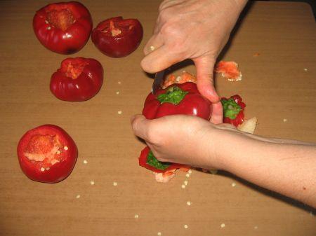 pulire peperoni