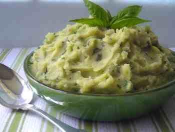 pure patate basilico