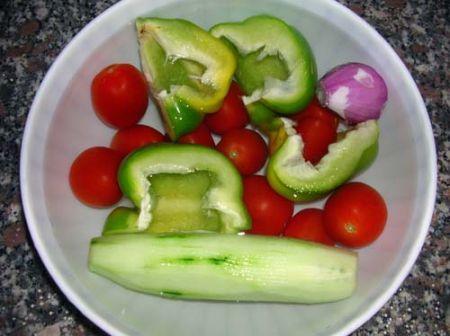 Lavate le verdure miste