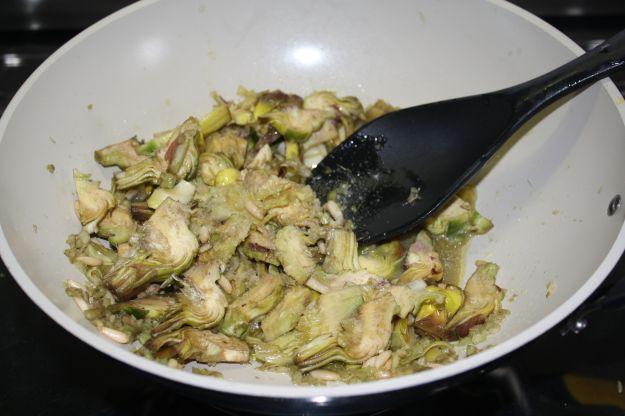 ricetta pasta carciofi funghi 01