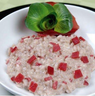 risotto con bresaola