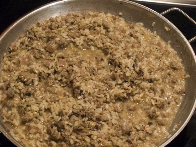risotto con fegatini di pollo