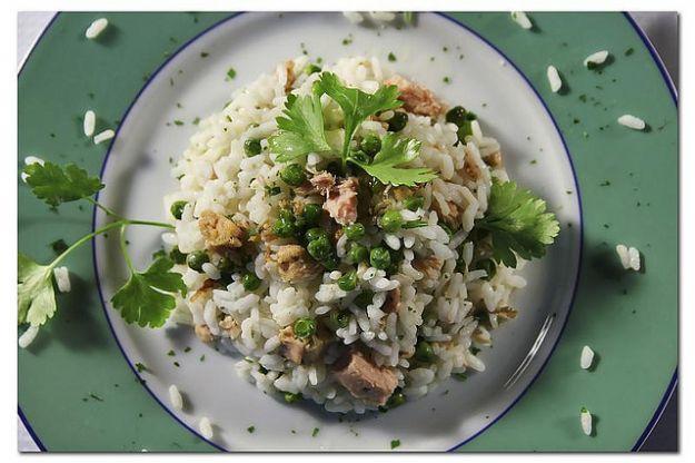 risotto con tonno e piselli