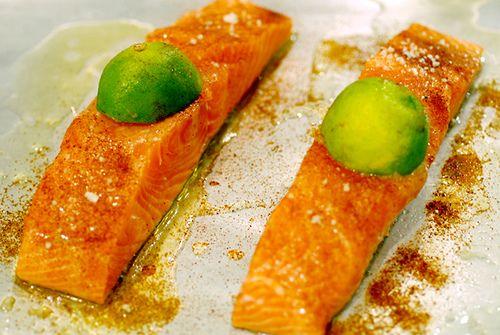 Salmone fresco al lime