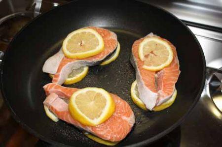 salmone al limone ipocalorico