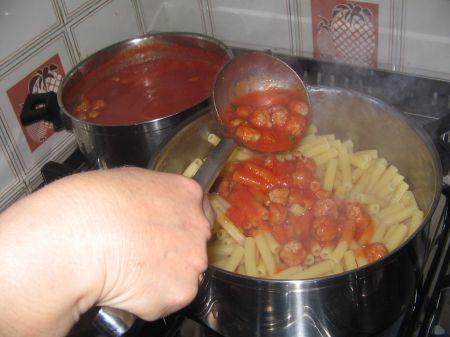salsa di pomodoro nella pasta