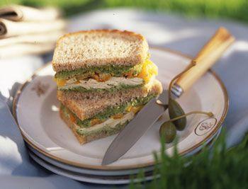 sandwich di pollo e peperoni